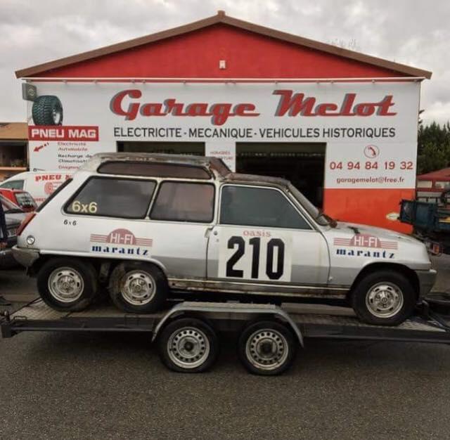 La Renault 5 Alpine à 6 roues de Christian de Léotard