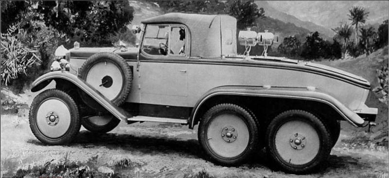 Morris Commercial 6×4 de chasse – 1929