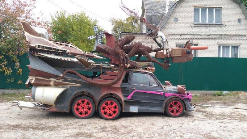 Fiat 126p Alien 6 roues – 2017