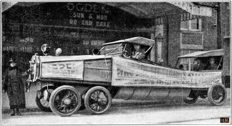 Véhicule publicitaire américain à 6 roues – 1923