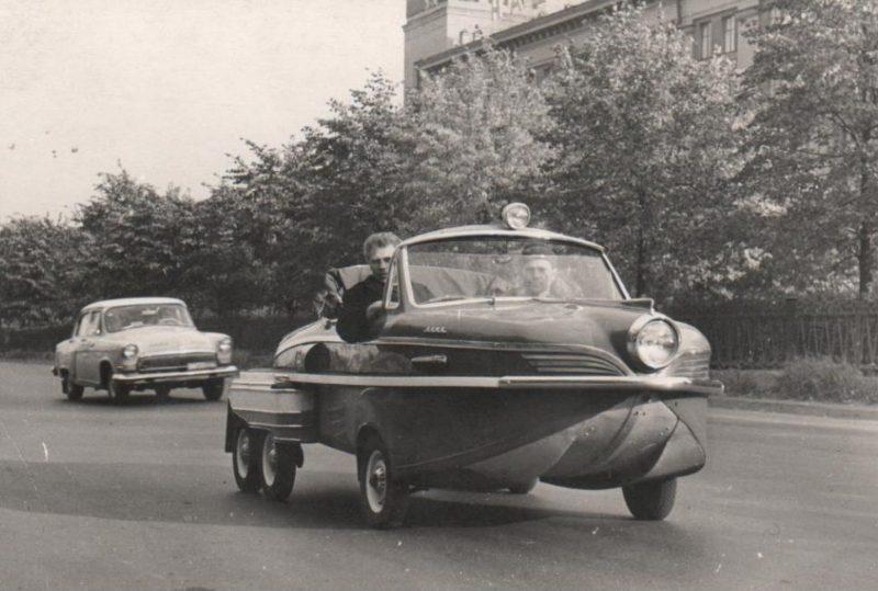 Véhicule amphibie Russe Kama à 6 roues – 1969