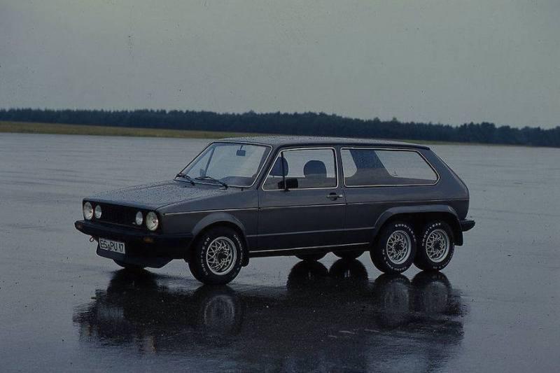 Golf GTI 6 roues – Peter Utler 1981