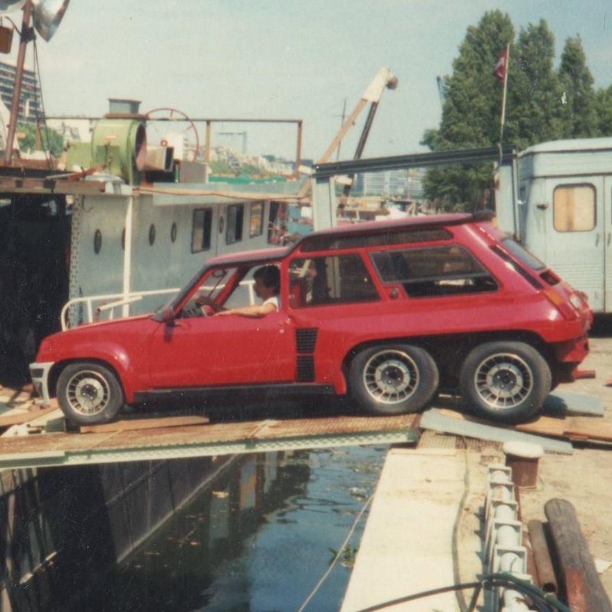 La Renault 5 Turbo à 6 roues de Christian de Léotard