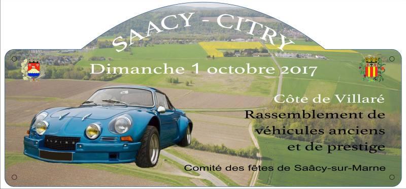 Rassemblement pour la Montée Historique de Saacy-Citry – 1er octobre 2017