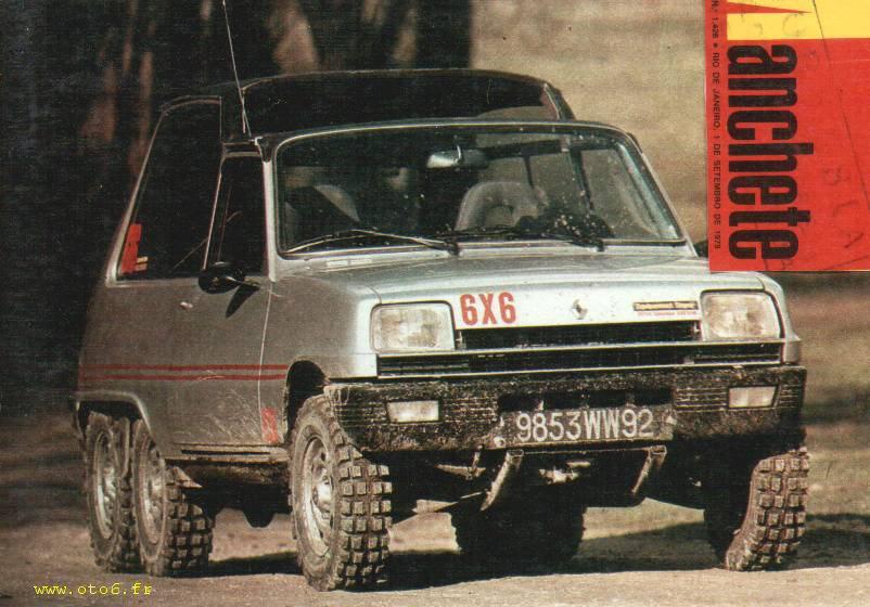 La Renault 5 TS à 6 roues de Christian de Léotard