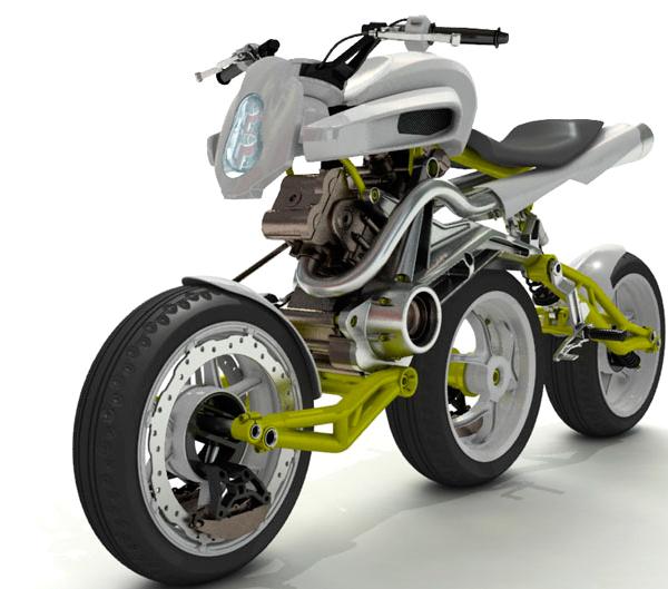 Moto 3 roues – Rondinaud design A.3.W. Motiv